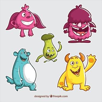 Set di mostri colorati