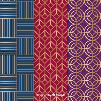 Set di motivi geometrici di lusso