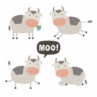 Set di mucca carina