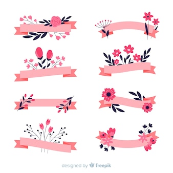 Set di nastri di primavera disegnati a mano