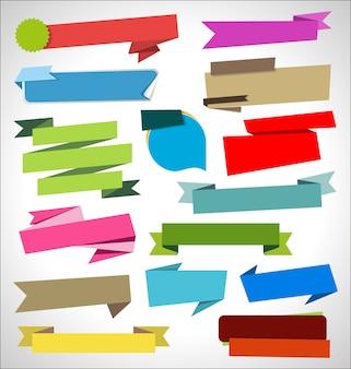 Set di nastri moderni colorati