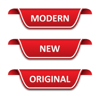 Set di nastri tag. moderno, nuovo, originale