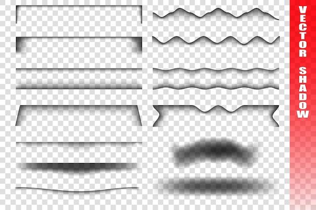Set di nastri trasparenti con le ombre.