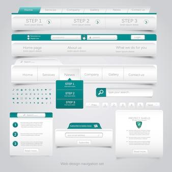 Set di navigazione web design.