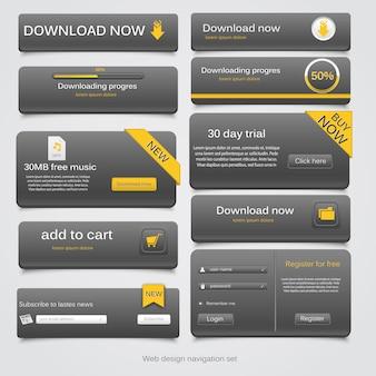 Set di navigazione web.