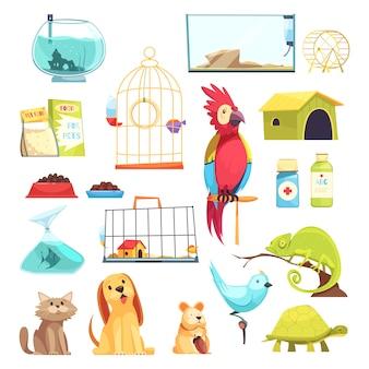 Set di negozi di animali