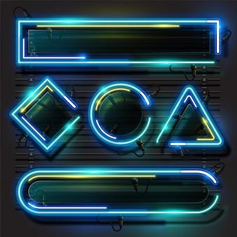 Set di neon di geometria