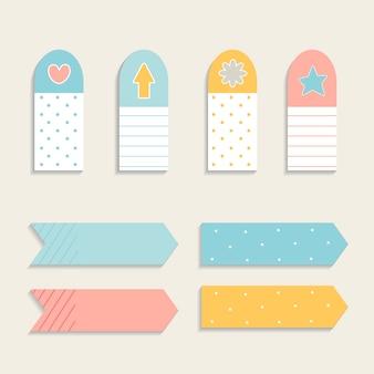 Set di nota appiccicoso colorato
