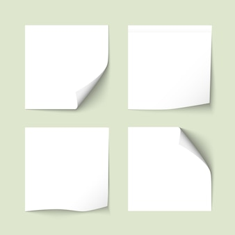 Set di note adesive bianche con ombre