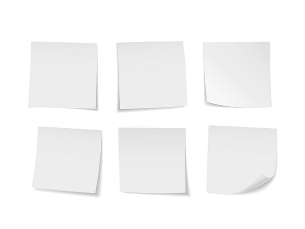 Set di note adesive bianche