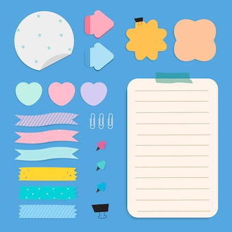 Set di note di carta colorata promemoria