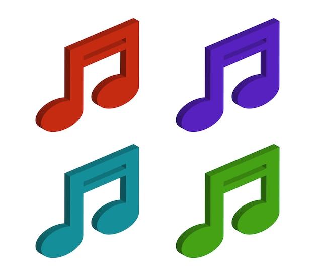 Set di note musicali