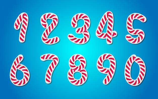 Set di numeri in stile candy