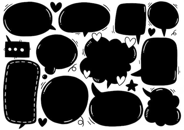 Set di nuvoletta carino in stile doodle