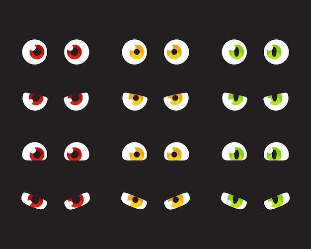 Set di occhi dei cartoni animati