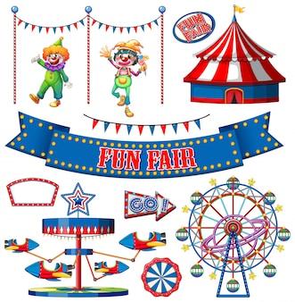 Set di oggetti da circo