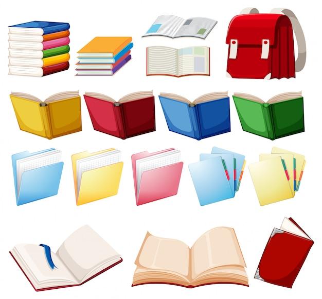 Set di oggetti del libro