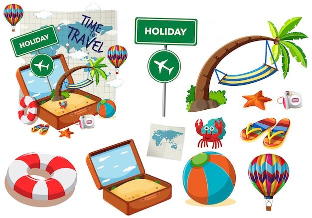 Set di oggetti di viaggio