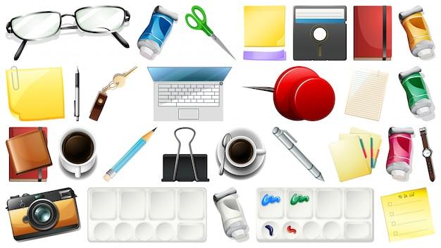 Set di oggetti fissi