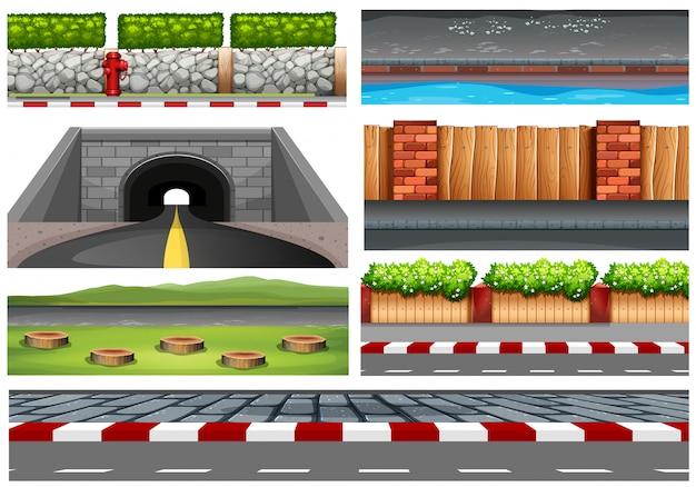 Set di oggetti stradali