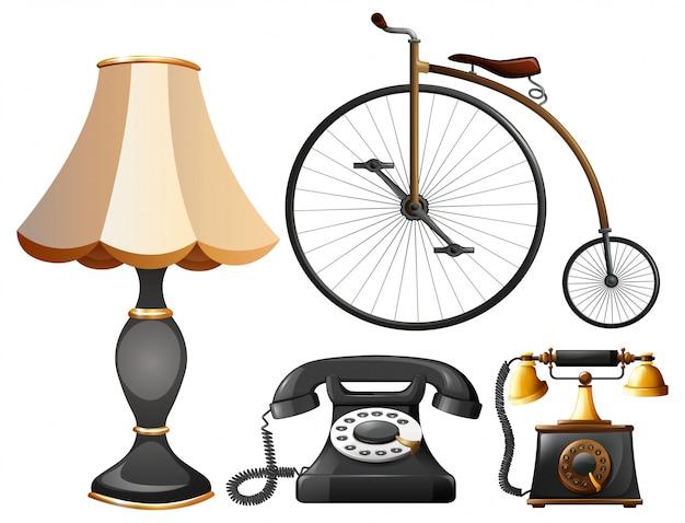Set di oggetti vintage