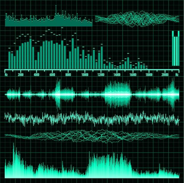 Set di onde sonore. musica di sottofondo.