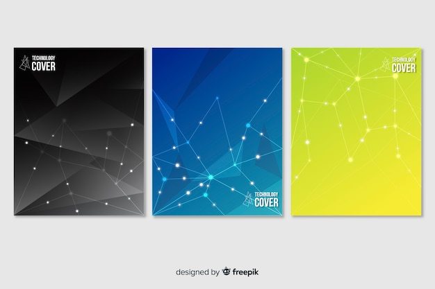 Set di opuscolo tecnologia colorato