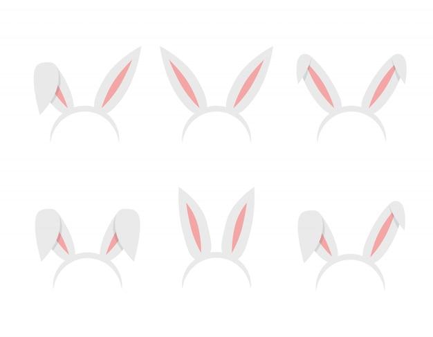 Set di orecchie da coniglio di pasqua