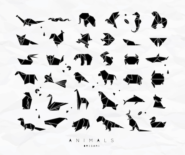 Set di origami di animali
