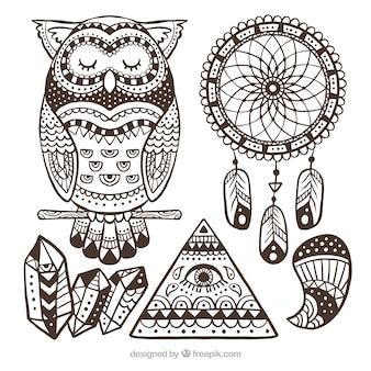 Set di ornamenti boho