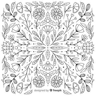 Set di ornamenti floreali disegnati a mano