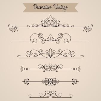 Set di ornamenti vintage o elementi vintage