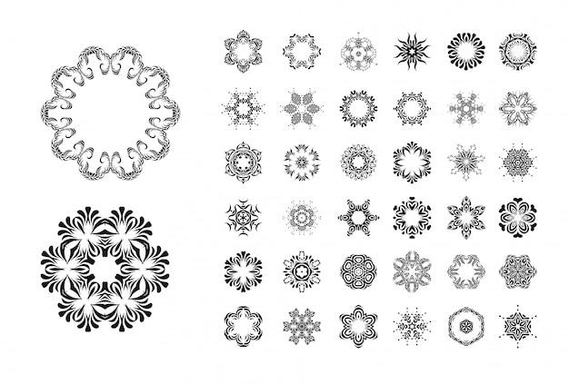 Set di ornamento rotondo