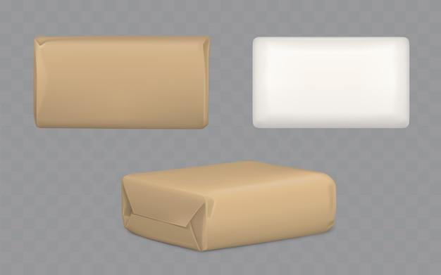 Set di pacchetti avvolti in pacchi