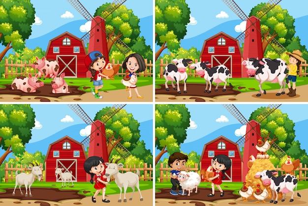 Set di paesaggio rurale