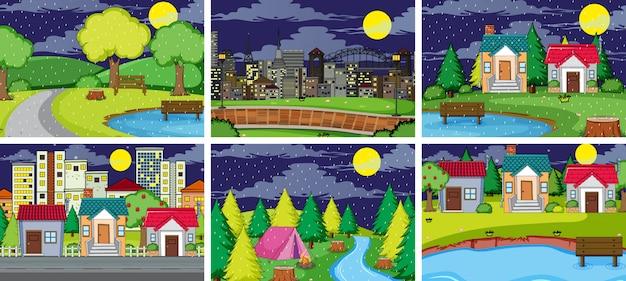 Set di paesaggio semplice