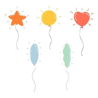 Set di palloncini colorati cartoon