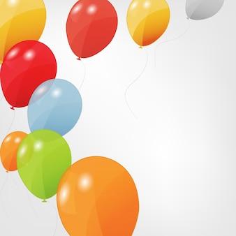Set di palloncini colorati illustrazione.