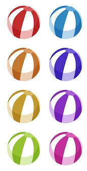 Set di pallone da spiaggia in diversi colori
