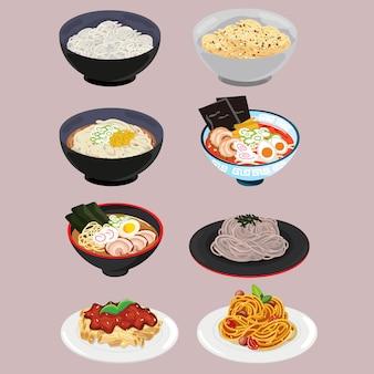 Set di pasta e noodle
