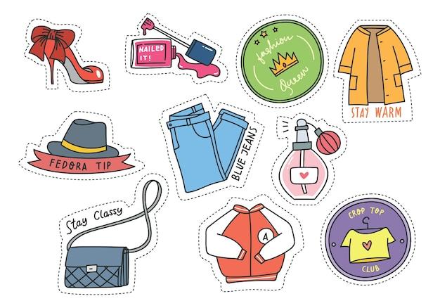 Set di patch di moda