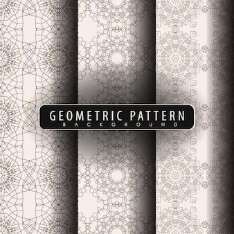 Set di pattern vintage senza soluzione di continuità