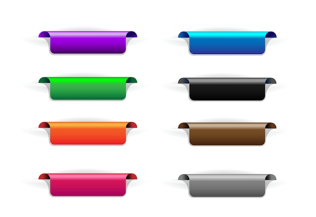 Set di pennarelli, segnalibri. segni adesivi colorati