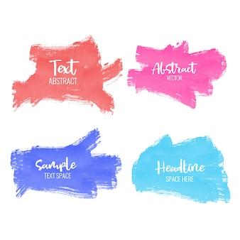 Set di pennellata di vernice colorata