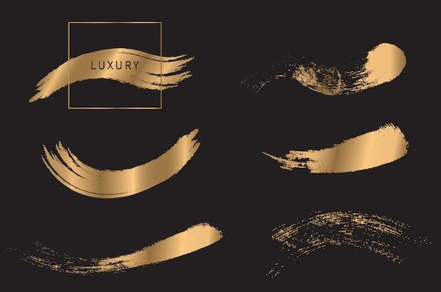 Set di pennelli d'oro
