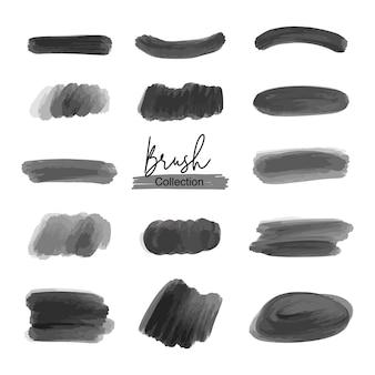 Set di pennelli neri