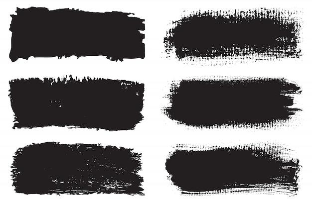 Set di pennelli nero grunge