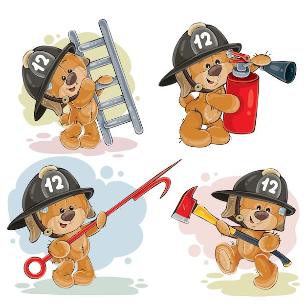 Un illustrazione del pompiere cartone animato vettoriale