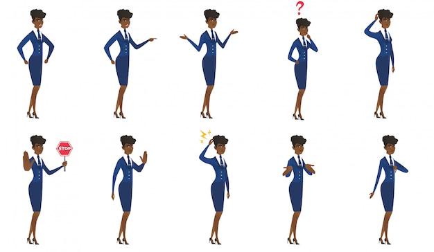 Set di personaggi hostess.