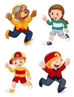 Set di personaggio dei cartoni animati